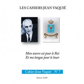 CAHIERS JEAN VAQUIÉ – CAHIER N°7