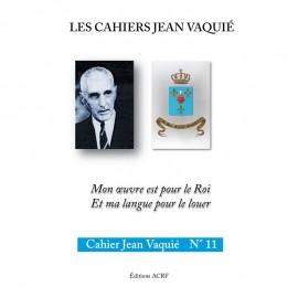 CAHIERS JEAN VAQUIÉ – CAHIER N°11