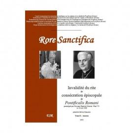RORE SANCTIFICA II, Invalidité du rite de consécration épiscopale de Pontificalis Romani - Partie II : annexes.
