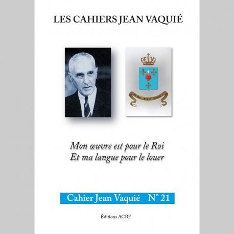 CAHIERS JEAN VAQUIÉ – CAHIER N°21