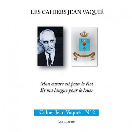 CAHIERS JEAN VAQUIÉ – CAHIER N°2