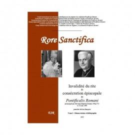 RORE SANCTIFICA I, Invalidité du rite de consécration épiscopale de Pontificalis Romani - Partie I : démonstration.