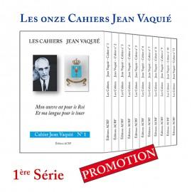 CAHIERS JEAN VAQUIÉ – LOT DES 11 CAHIERS de la 1è Série