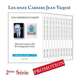 CAHIERS JEAN VAQUIÉ – LOT DES 11 CAHIERS de la 2ème Série