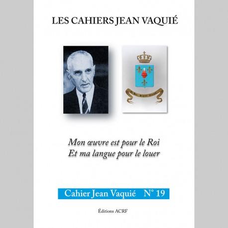 CAHIERS JEAN VAQUIÉ – CAHIER N°19