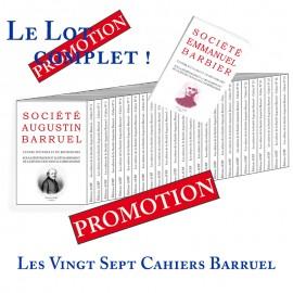 Les cahiers de la Société Augustin Barruel - LOT DES 28 CAHIERS Barruel