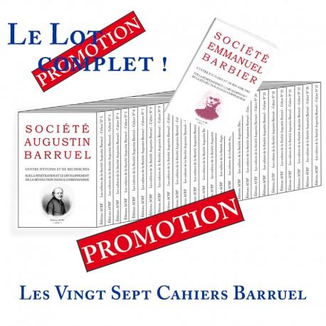 Les cahiers de la Société Augustin Barruel - LOT Cahiers Barruel
