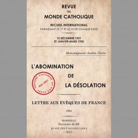 L'Abomination de la désolation, Lettre aux évêques de France